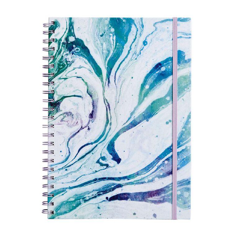 Uniti Fun & Funky Notebook Hardcover Marble Blue Light A4, , hi-res
