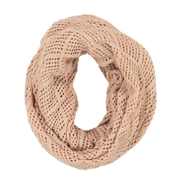 H&H Diamond Knit Snood, Pink Light, hi-res