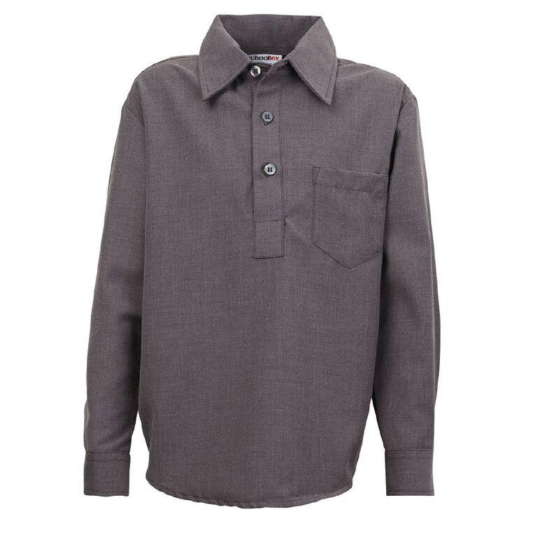 Schooltex Kids' Closed Front School Shirt, Grey, hi-res