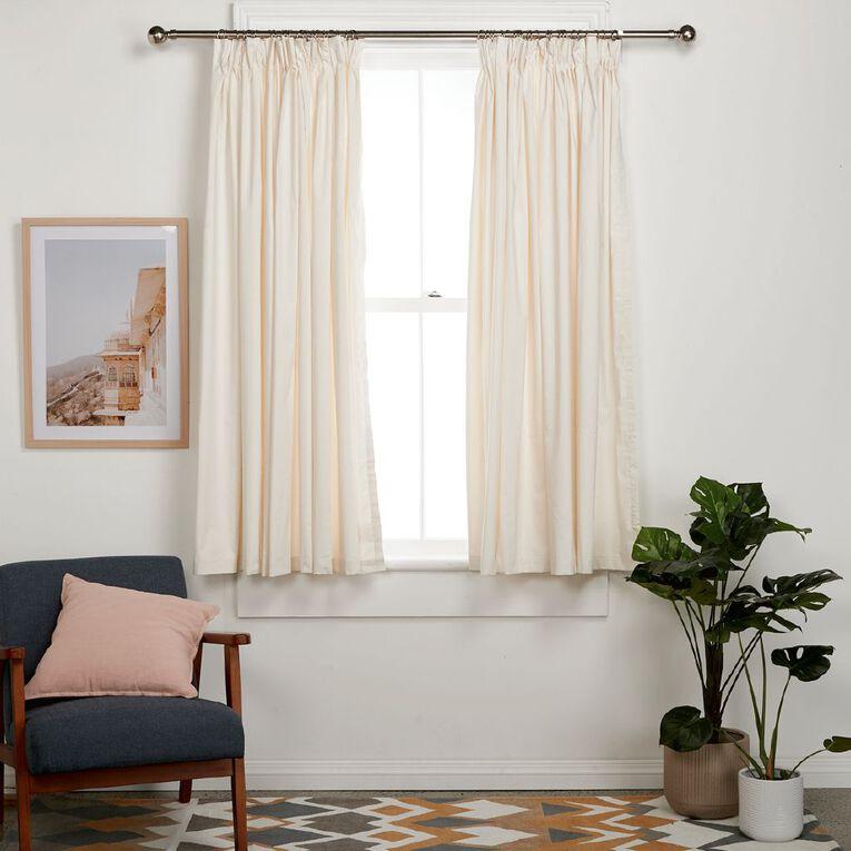 Living & Co Calico Curtains Natural 150-230cm Wide/160cm Drop, Natural, hi-res