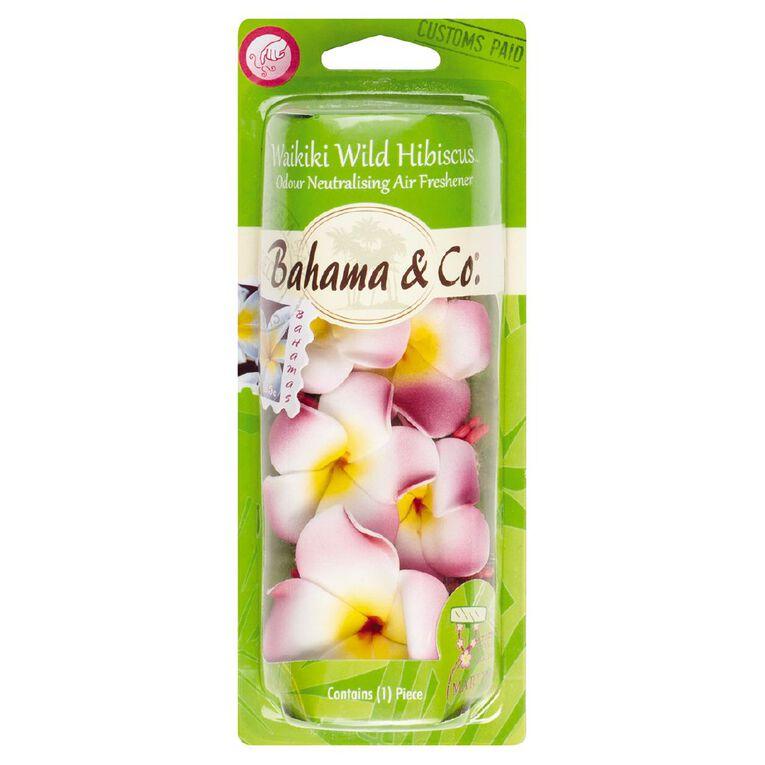Bahama & Co Car Air Freshener Necklace Waikiki Wild Hibisus Scent, , hi-res