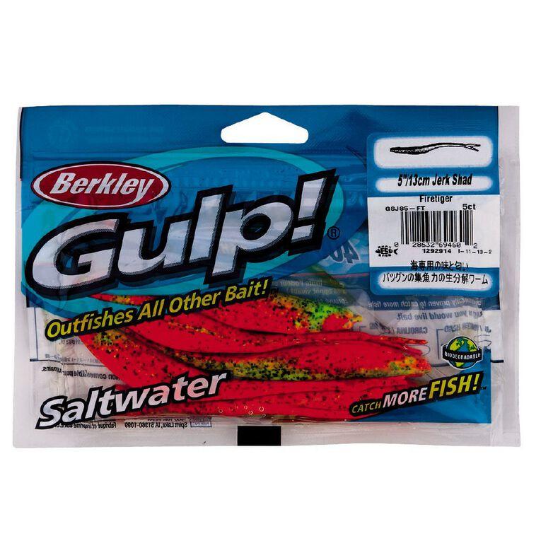 Gulp Berkley 5inch Jerk Shad Fire Tiger, , hi-res