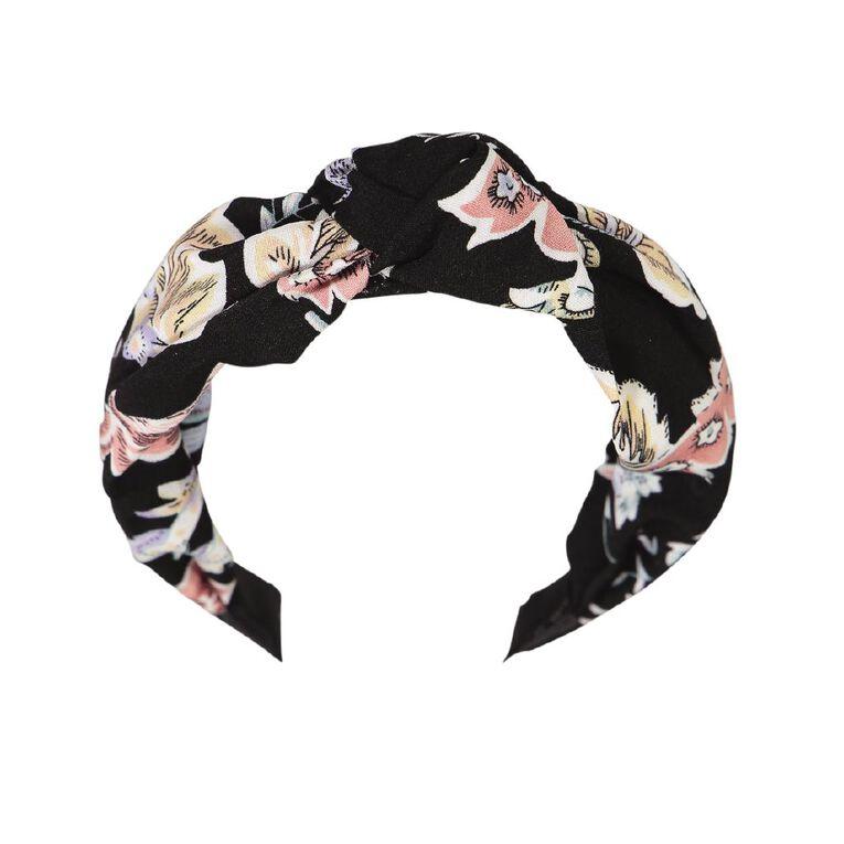 Dark Romance Knot Headband Black, , hi-res