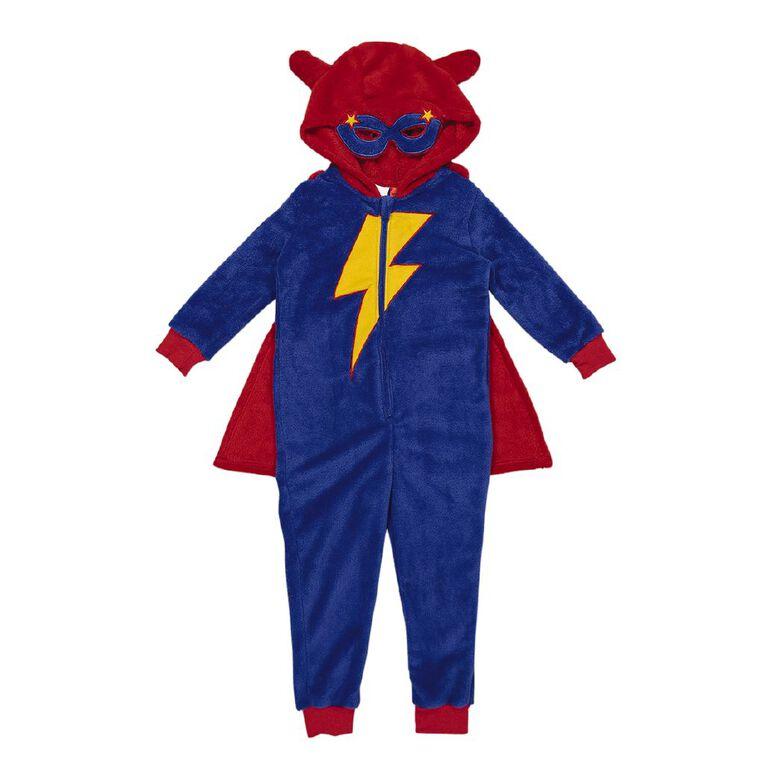 H&H Kids' Super Hero Onesie, Blue, hi-res