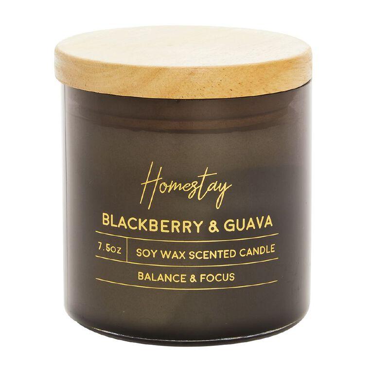 Living & Co Homestay Candle Blackberry & Guava Black 7.5oz, Black, hi-res
