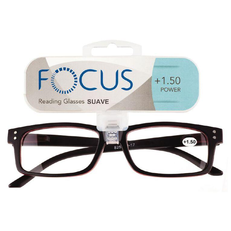 Focus Reading Glasses Men's Suave Power 1.50, , hi-res