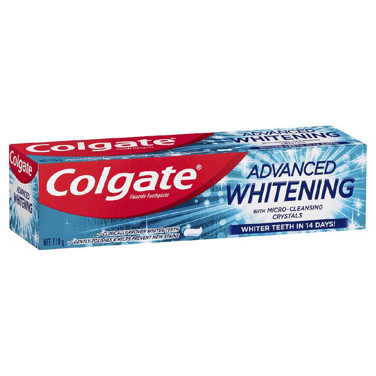 Colgate Advanced Whitening Toothpaste 110g, , hi-res