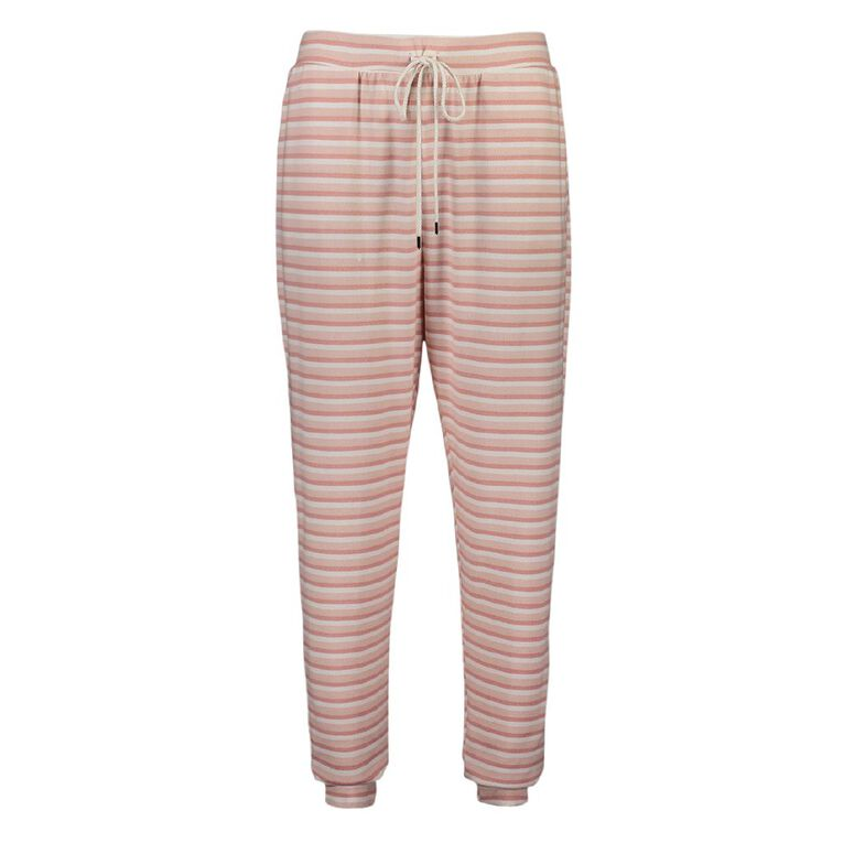 Love to Lounge Women's Stripe Pyjama Pants, Pink Mid, hi-res image number null