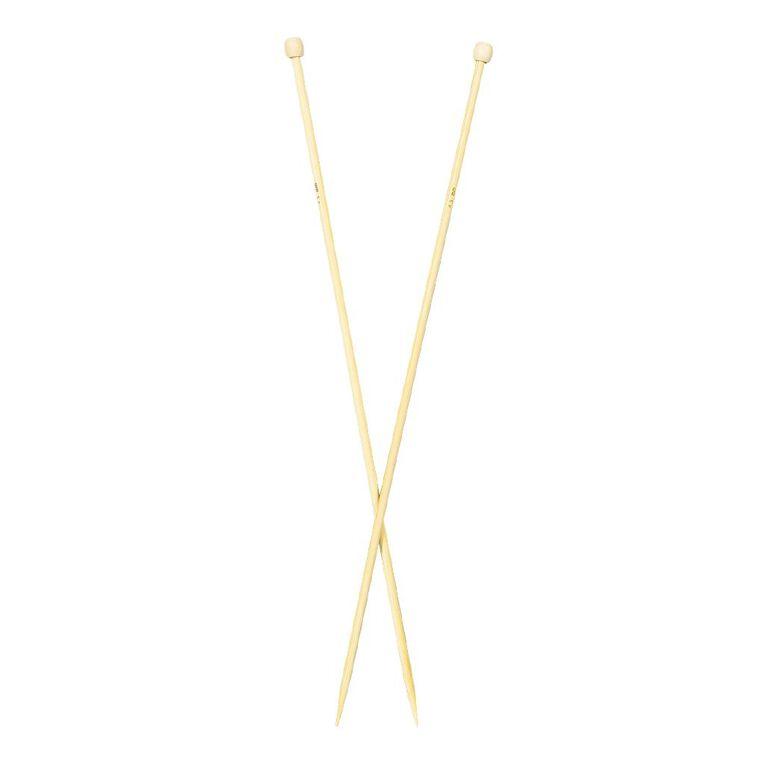 Uniti Knitting Needles Bamboo 4.5mm 35cm Brown 2 Pack, , hi-res
