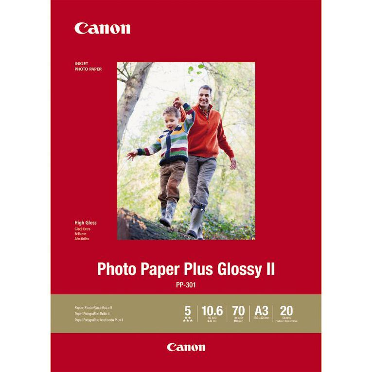 Canon Photo Paper Glossy Photo II 265GSM A3 20 Pack, , hi-res