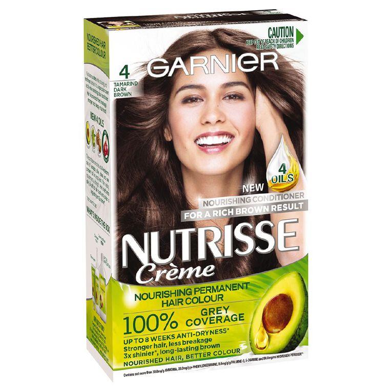 Garnier Nutrisse Permanent Creme Tamarind Dark Brown 4, , hi-res