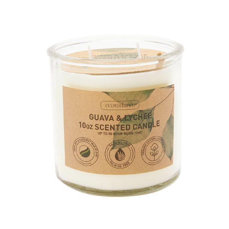 Living & Co Eco Jar Candle Guava & Lychee 10oz, , hi-res