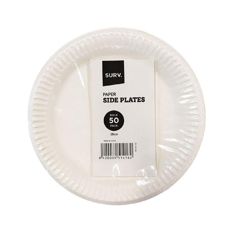 SURV. Paper Plates 18cm 50 Pack, , hi-res