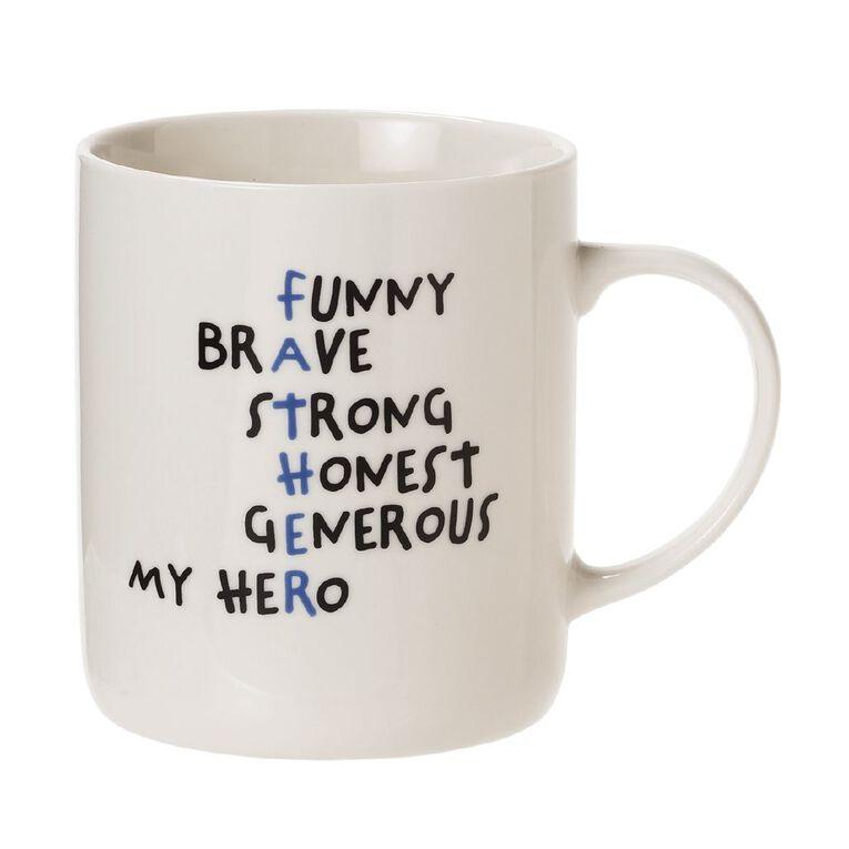 Living & Co Hero Dad Mug Multi-Coloured, , hi-res