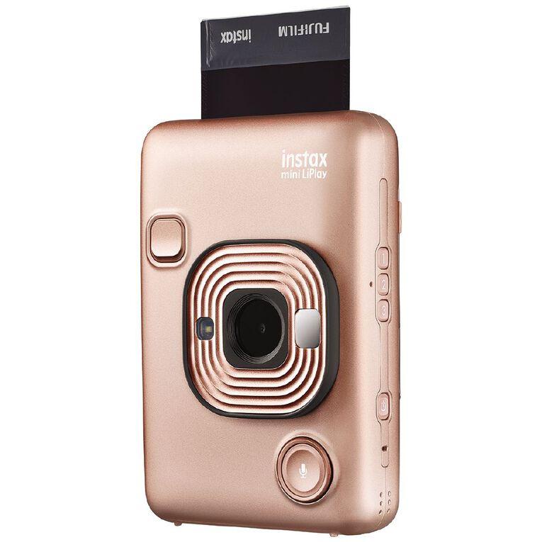 Fujifilm Instax Mini LiPlay Instant Camera Blush Gold, , hi-res