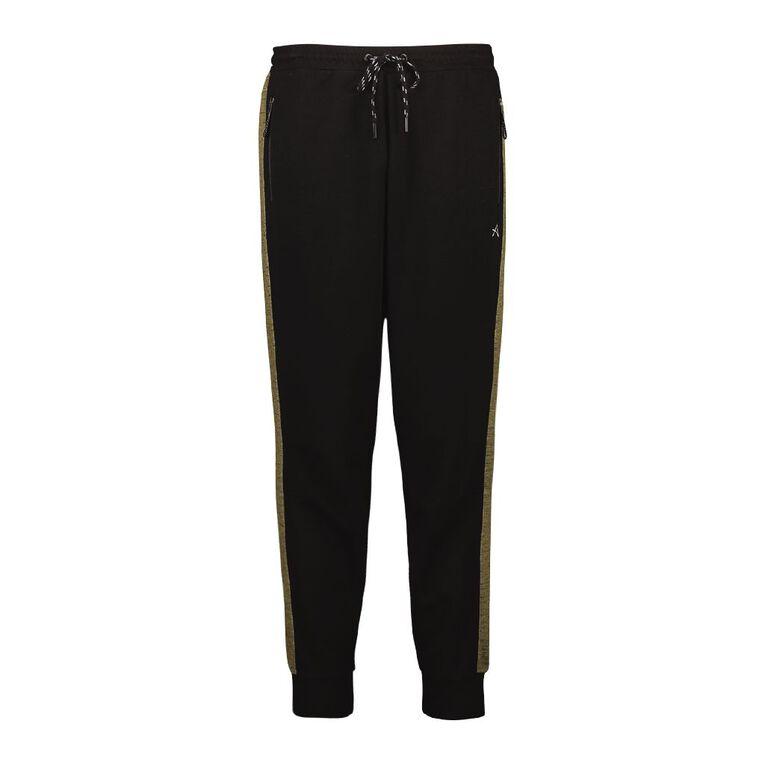 Active Intent Men's Space Dyed Color Block Pants, Black, hi-res