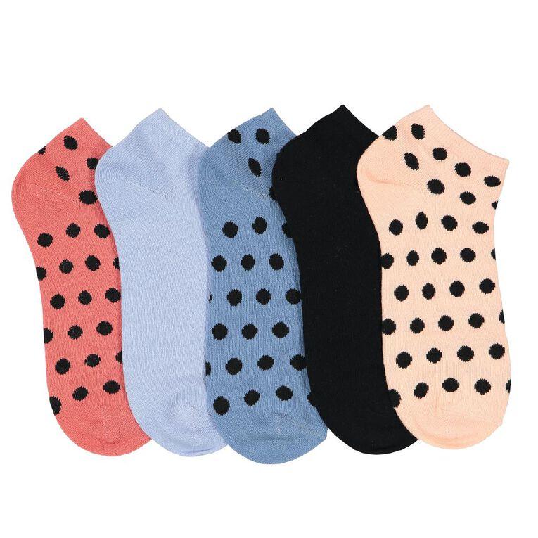 H&H Women's Liner Socks 5 Pack, Pink Light, hi-res