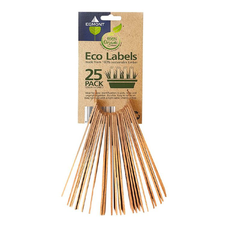 Kiwi Garden Egmont Eco Labels 25 Pack, , hi-res
