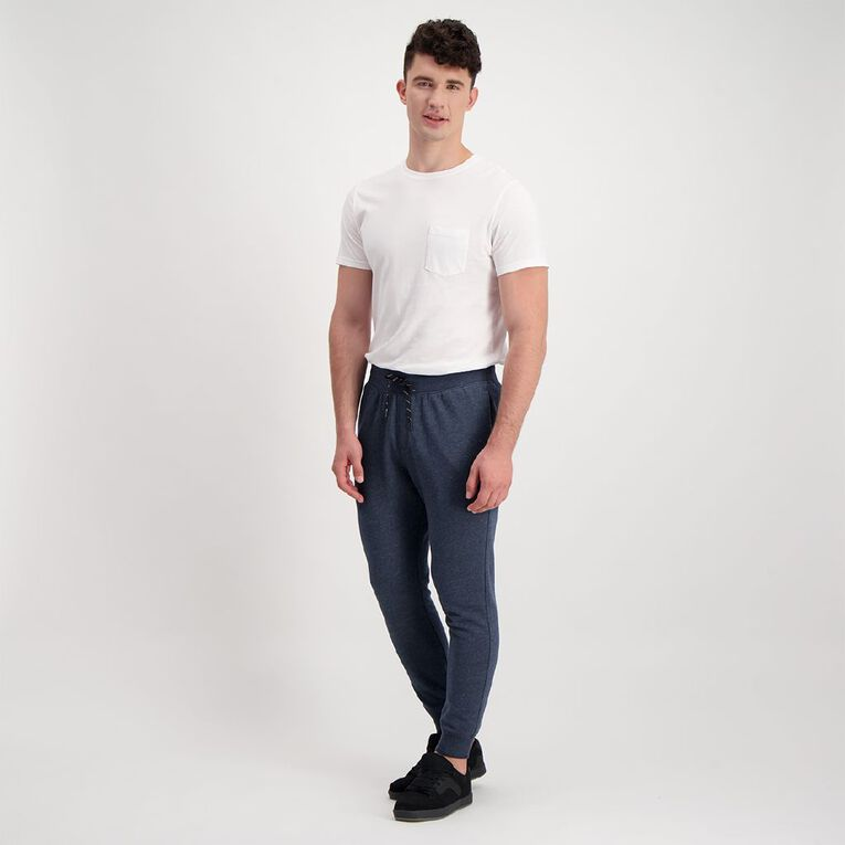 H&H Men's Jogger Trackpants, Navy MARLE, hi-res image number null