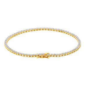 1 Carat Diamond 9ct Gold Tennis Bracelet