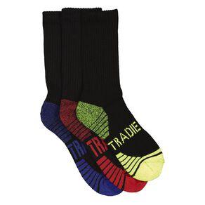 Tradie Boys' Crew Sport Socks 3 Pack