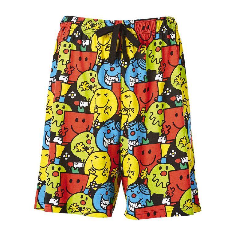 Mr Men Men's Shorts, Black, hi-res