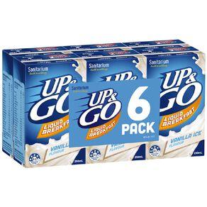Up & Go Vanilla Ice 250ml 6 Pack