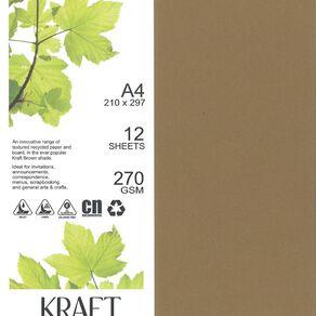 Direct Paper Enviro Board 270gsm 12 Pack Kraft Brown A4