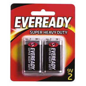 Eveready Super Heavy Duty Batteries 9 Volt 2 Pack