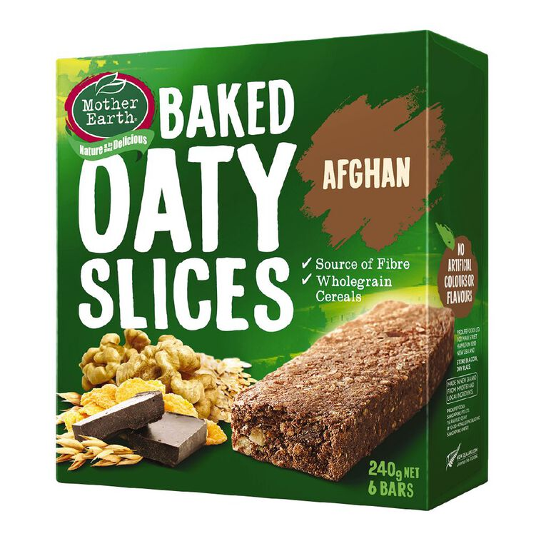 Mother Earth Baked Oaty Slice Afghan 240g, , hi-res