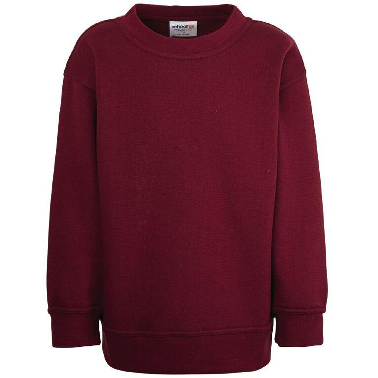 Schooltex Kids' Sweatshirt, Burgundy, hi-res