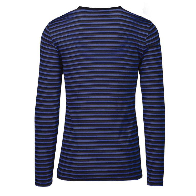 H&H Men's Polyester Viscose Long Sleeve Thermal, Blue, hi-res