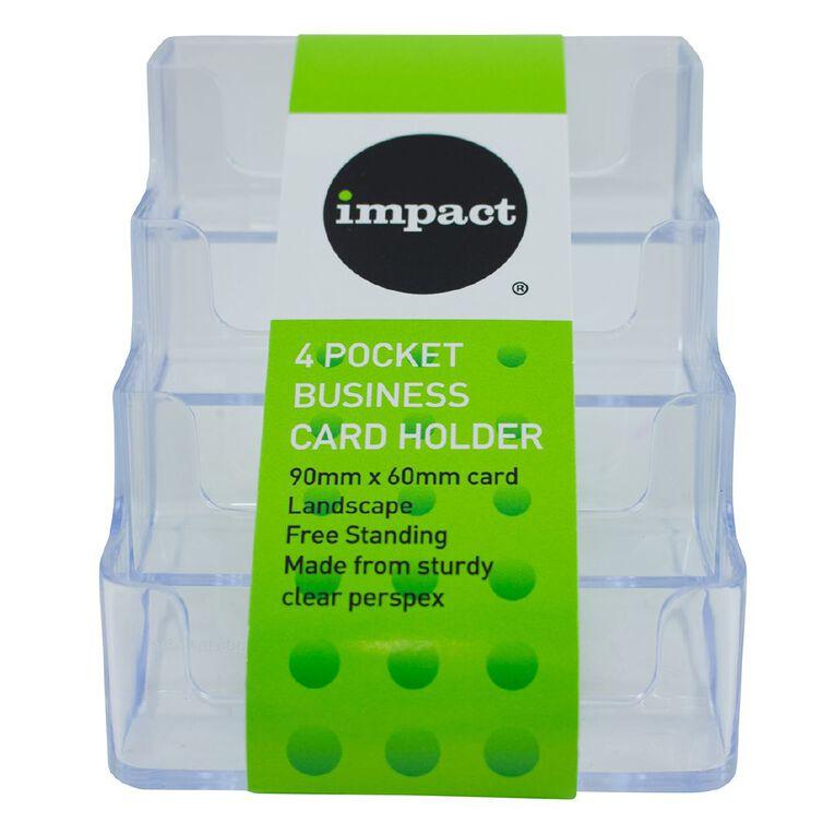 Impact Business Card Holder Free Standing Landscape, , hi-res image number null