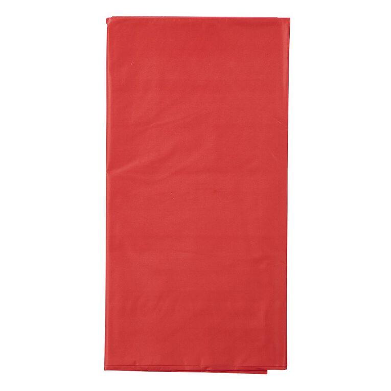 Unique Plastic Tablecover Rectangle Ruby Red 137cm x 274cm, , hi-res