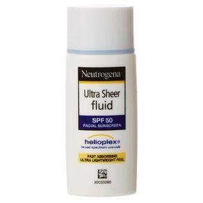 Neutrogena Ultra Sheer Fluid Sunscreen SPF50