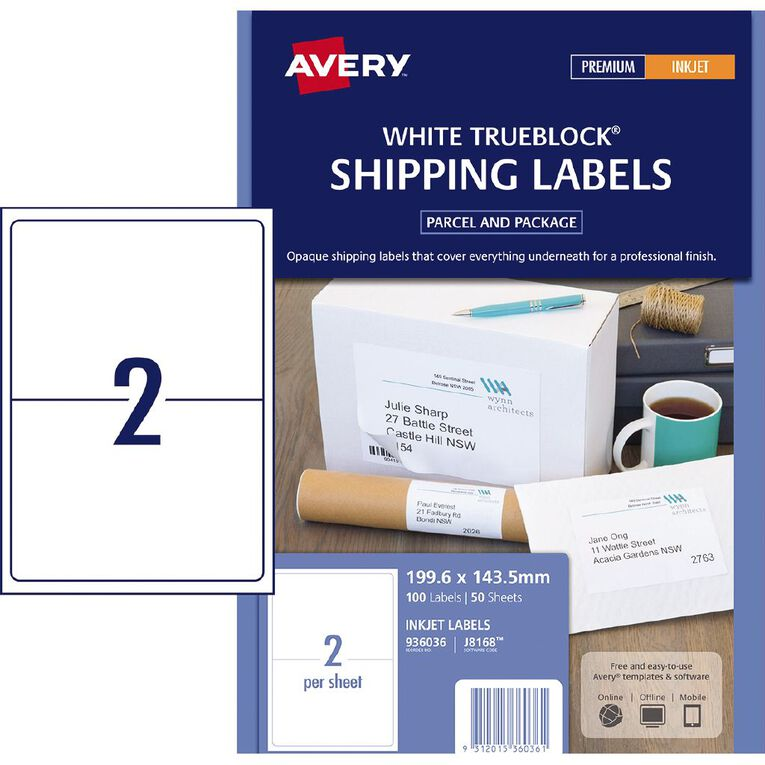 Avery Address Labels with Quick Peel Whiter 100 Labels, , hi-res