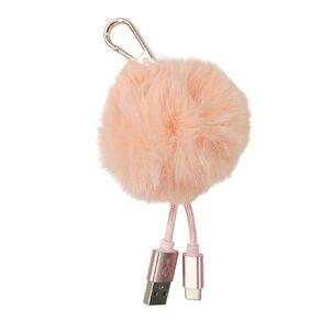 Conservatory USB-C Pom-Pom Cable Pink