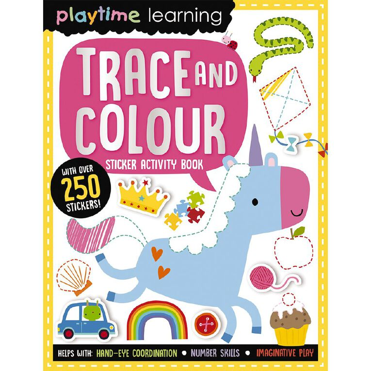 Playtime Learning - Trace and Colour N/A, , hi-res