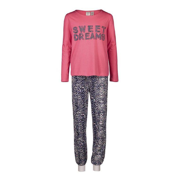 H&H Girls' Long Sleeves Pyjamas, Pink, hi-res