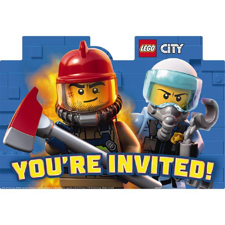 LEGO City Postcard Invitations 8 Pack, , hi-res
