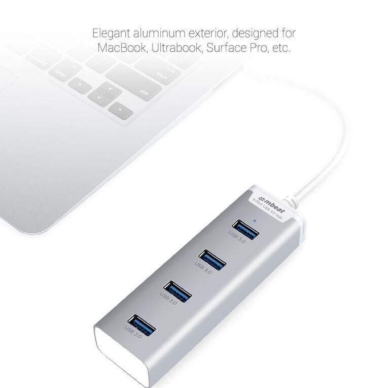 mbeat Stick 4 Port USB 3.0 Hub Silver, , hi-res image number null