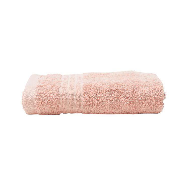 Living & Co Manhattan Hand Towel Pink 35cm x 55cm, Pink, hi-res