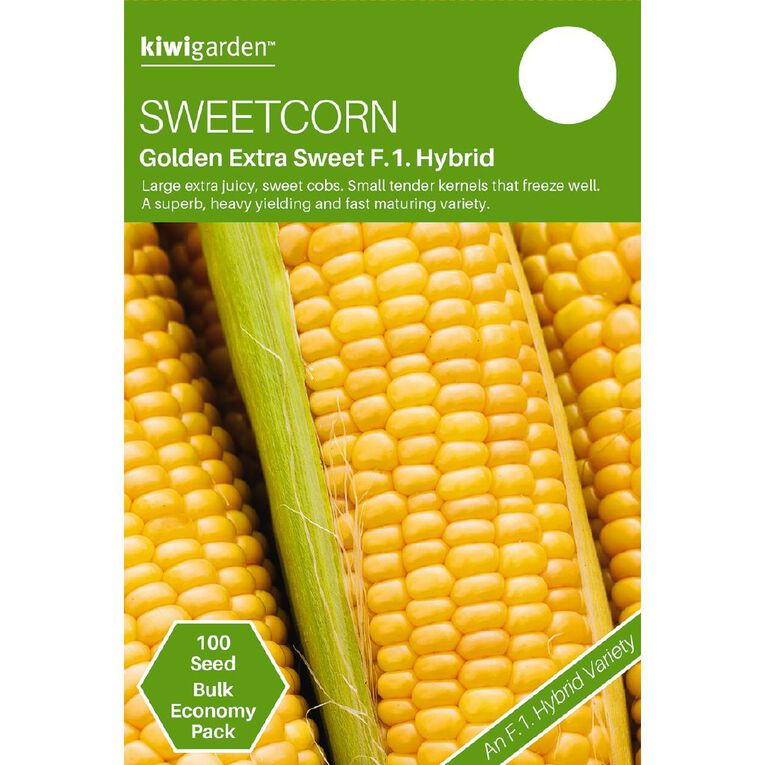 Kiwi Garden Sweetcorn Golden Extra Sweet F1 Hybrid, , hi-res
