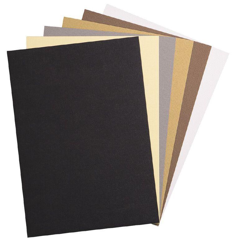 Uniti Value Cardstock Textured 216gsm 30 Sheets Neutral A4, , hi-res