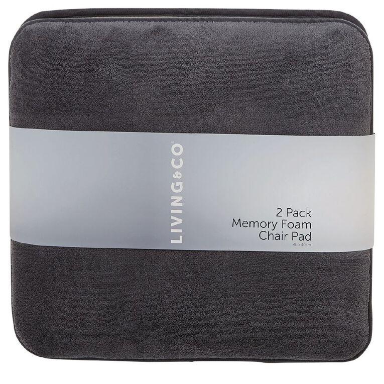 Living Co Memory Foam Chair Pad 2, Memory Foam Chair Pad 2 Pack