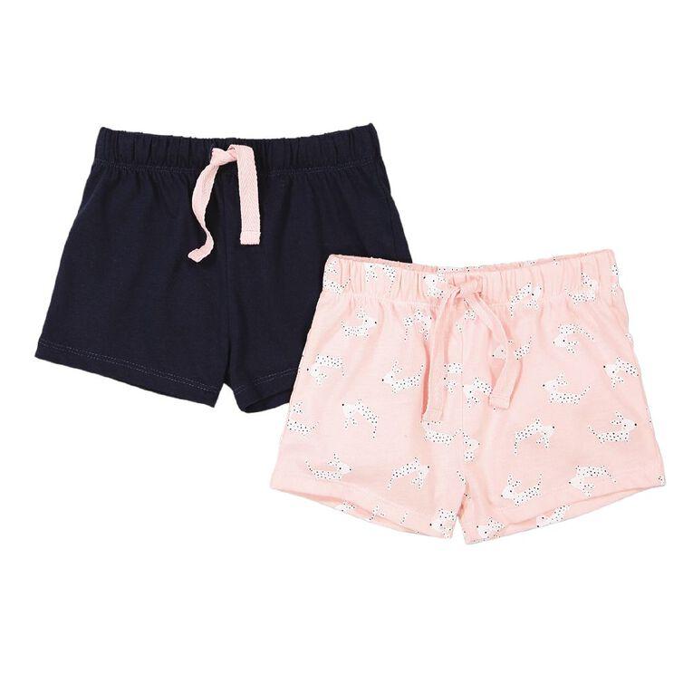 Young Original Toddler 2 Pack Knit Shorts, Pink Light, hi-res
