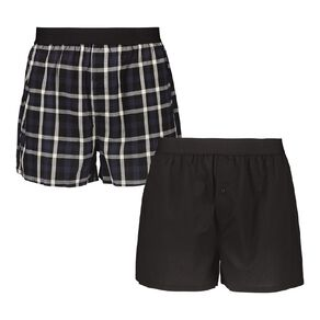H&H Men's Woven Boxers 2 Pack