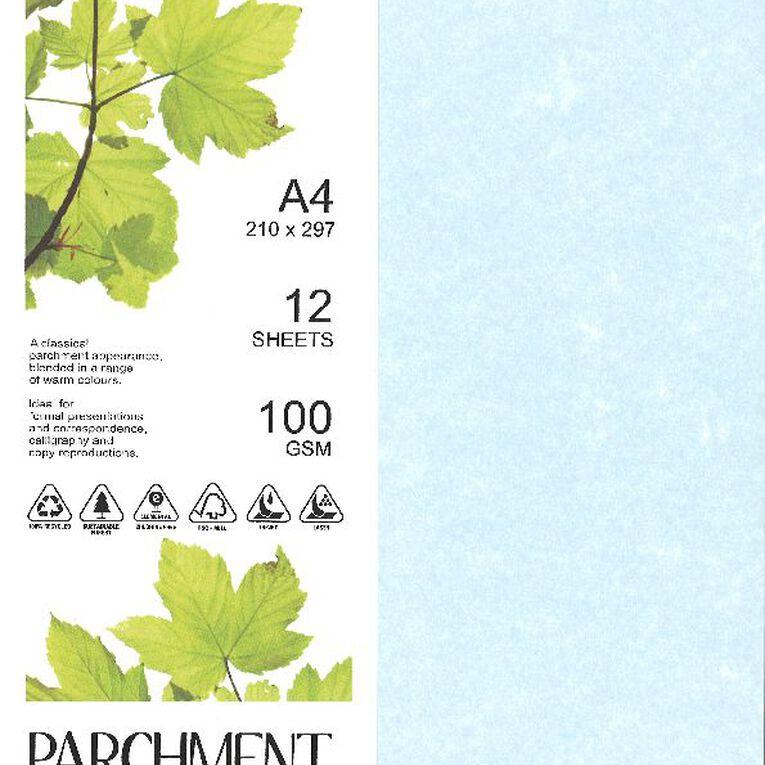 Direct Paper Parchment Paper 100gsm 12 Pack Sirius Blue A4, , hi-res