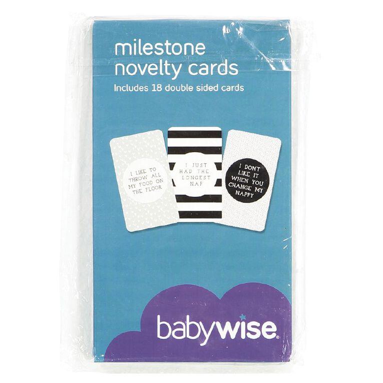 Babywise Novelty Milestone Cards, , hi-res