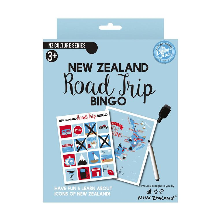 Curious Kiwi Road Trip Bingo Game, , hi-res
